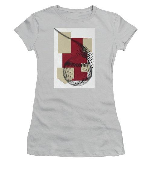 Arizona Diamondbacks Art Women's T-Shirt (Junior Cut) by Joe Hamilton