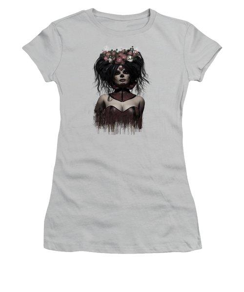 La Catrina Women's T-Shirt (Junior Cut) by Shanina Conway