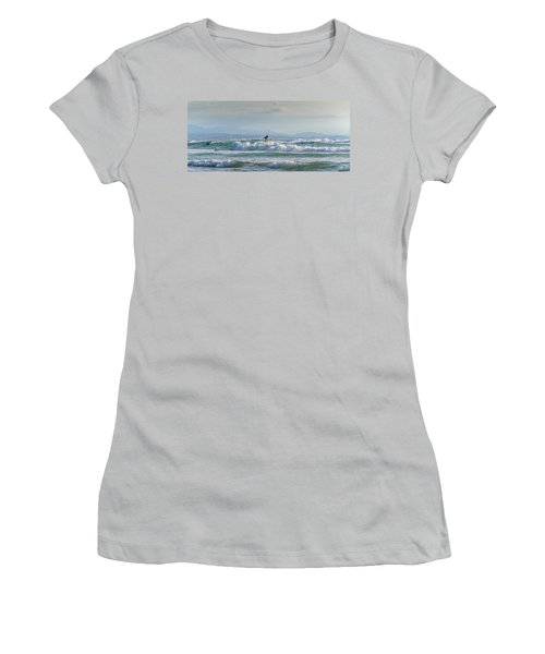 Women's T-Shirt (Junior Cut) featuring the photograph Big Surf Invitational I by Thierry Bouriat