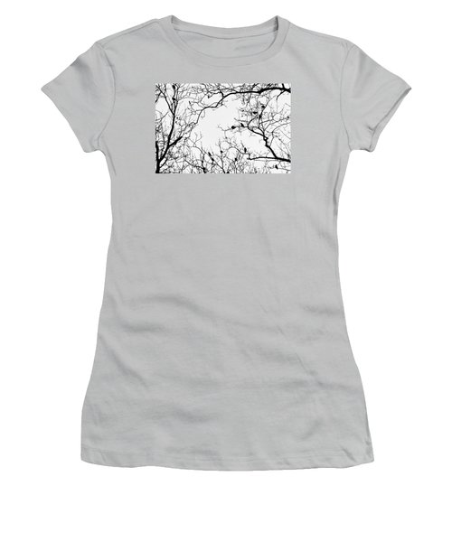 Branches And Birds Women's T-Shirt (Junior Cut) by Sandy Taylor