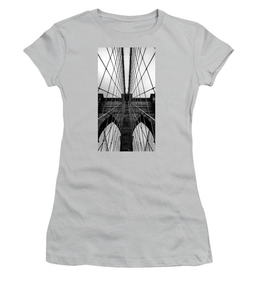 Brooklyn's Web Women's T-Shirt (Junior Cut) by Az Jackson