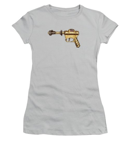 Buck Rogers Ray Gun Women's T-Shirt (Junior Cut) by YoPedro