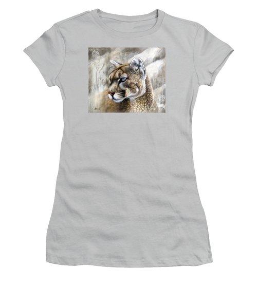 Catamount Women's T-Shirt (Junior Cut) by Sandi Baker