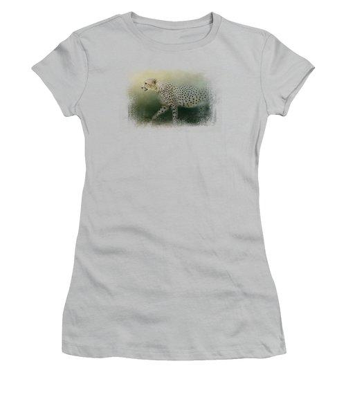 Cheetah On The Prowl Women's T-Shirt (Junior Cut) by Jai Johnson
