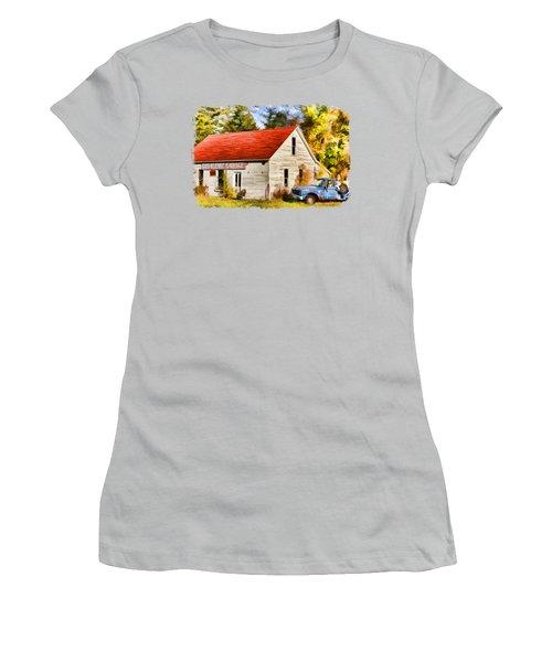 Door County Gus Klenke Garage Women's T-Shirt (Junior Cut) by Christopher Arndt