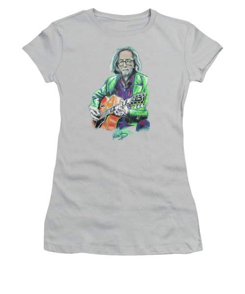 Eric Clapton Women's T-Shirt (Junior Cut) by Melanie D