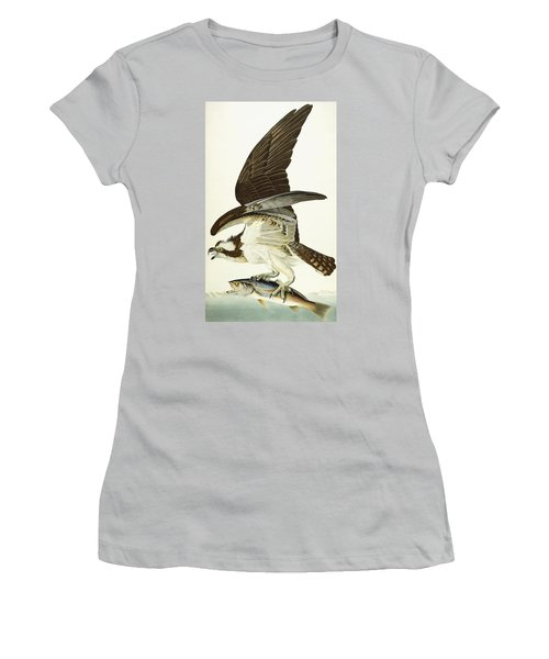 Fish Hawk Women's T-Shirt (Junior Cut) by John James Audubon
