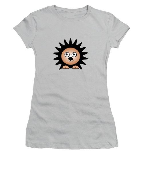 Hedgehog - Animals - Art For Kids Women's T-Shirt (Junior Cut) by Anastasiya Malakhova