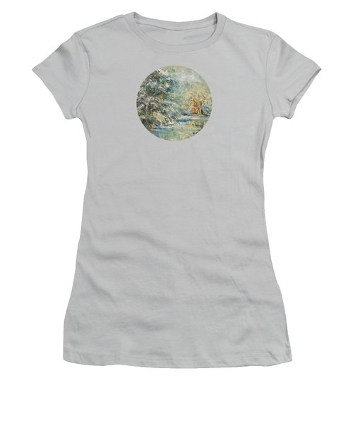 In The Snowy Silence Women's T-Shirt (Junior Cut) by Mary Wolf