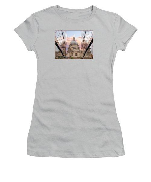 London Awakes - St. Pauls Cathedral Women's T-Shirt (Junior Cut) by Gill Billington