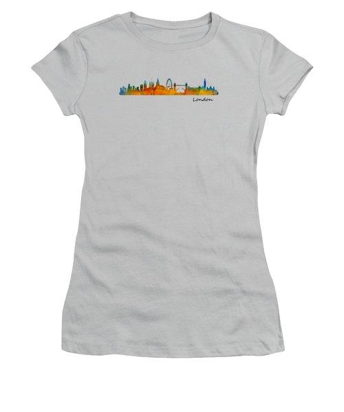 London City Skyline Hq V1 Women's T-Shirt (Junior Cut) by HQ Photo