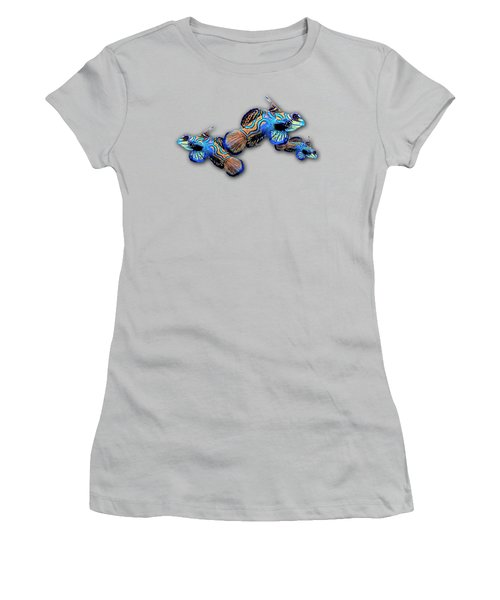 Mandarin Gobies Women's T-Shirt (Junior Cut) by Russ Harris