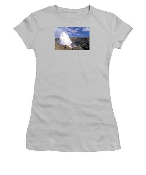 Women's T-Shirt (Junior Cut) featuring the photograph Mount Aso by Travel Pics