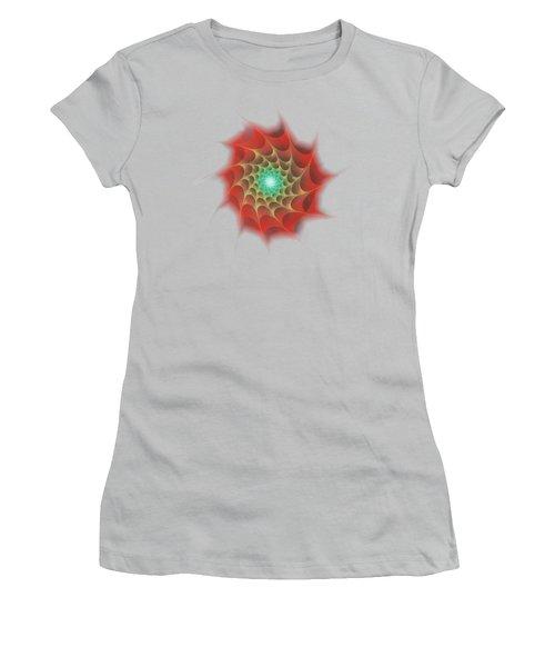Red Web Women's T-Shirt (Junior Cut) by Anastasiya Malakhova