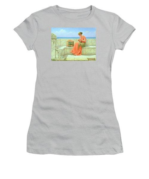 Sweet Sounds Women's T-Shirt (Junior Cut) by John William Godward