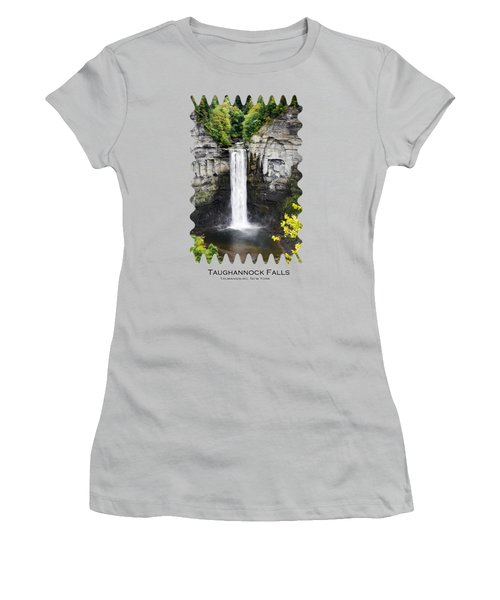 Taughannock Falls View From The Top Women's T-Shirt (Junior Cut) by Christina Rollo