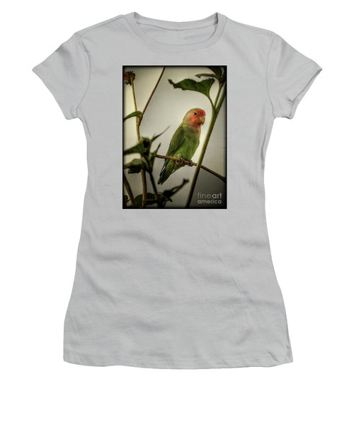 The Lovebird  Women's T-Shirt (Junior Cut) by Saija  Lehtonen