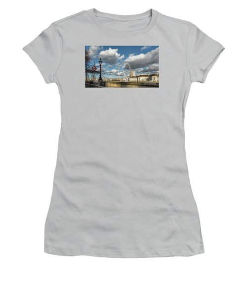 Victoria Embankment Women's T-Shirt (Junior Cut) by Adrian Evans