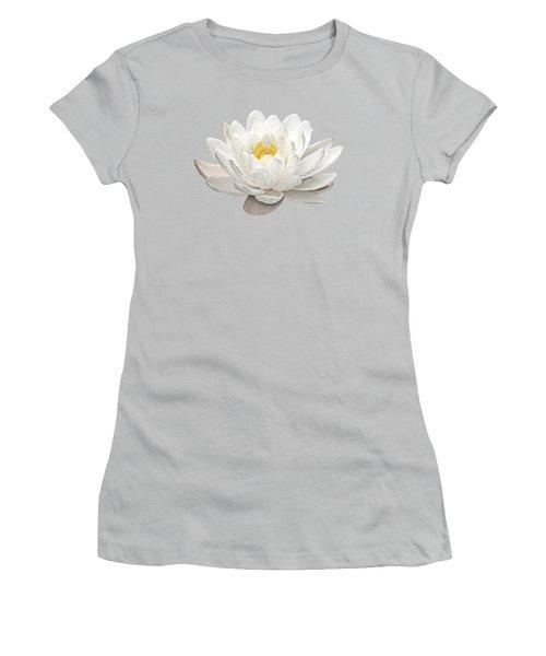 Water Lily Whirlpool Women's T-Shirt (Junior Cut) by Gill Billington