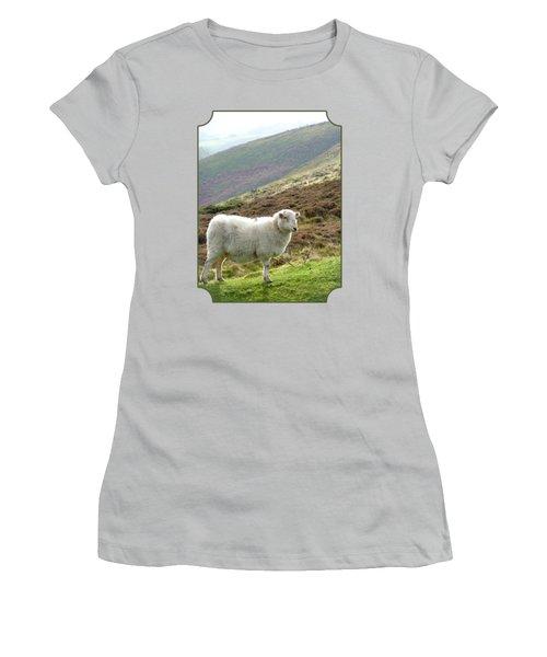 Welsh Mountain Sheep Women's T-Shirt (Junior Cut) by Gill Billington