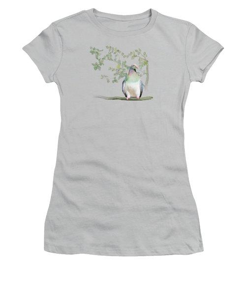 Wood Pigeon Women's T-Shirt (Junior Cut) by Ivana Westin