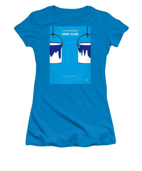 No427 My Home Alone Minimal Movie Poster Women's T-Shirt (Junior Cut) by Chungkong Art