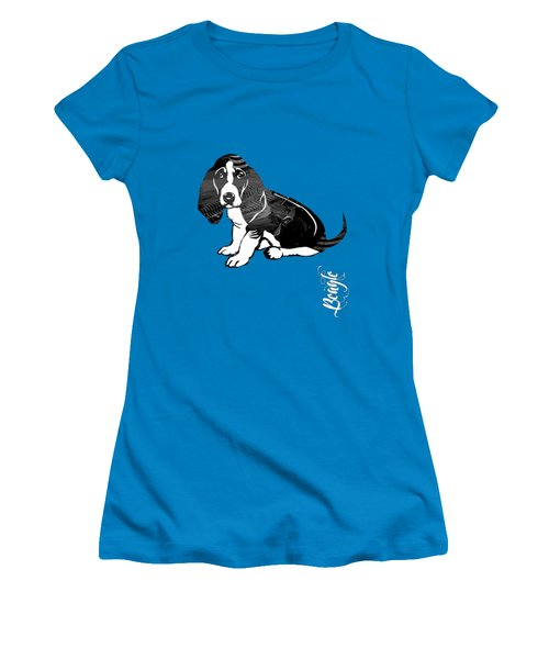 Beagle Collection Women's T-Shirt (Junior Cut) by Marvin Blaine