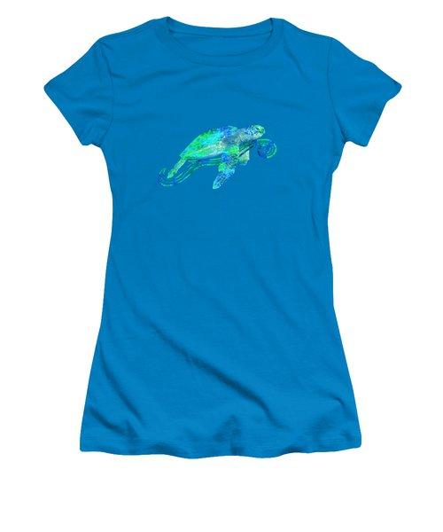 Sea Turtle Graphic Women's T-Shirt (Junior Cut) by Chris MacDonald