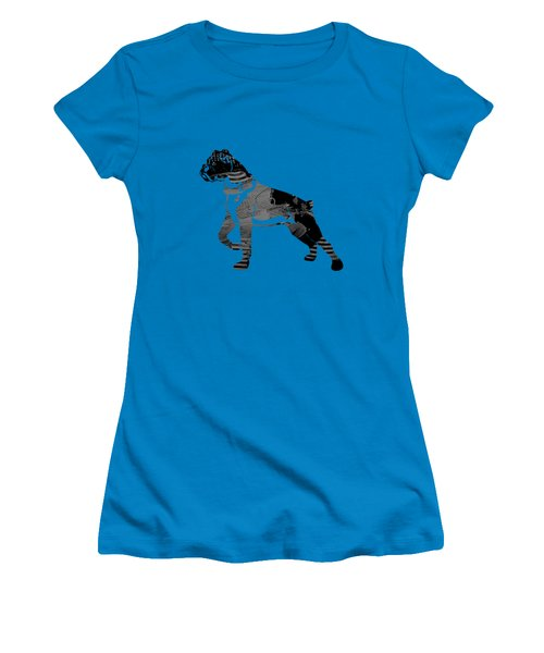 Boxer Collection Women's T-Shirt (Junior Cut) by Marvin Blaine