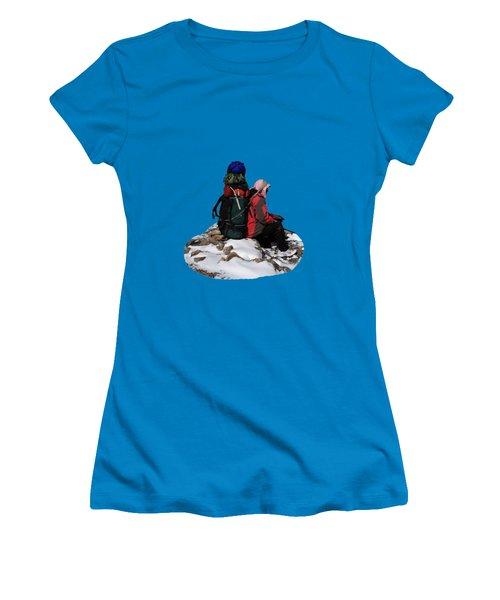 Himalayan Porter, Nepal Women's T-Shirt (Junior Cut) by Aidan Moran