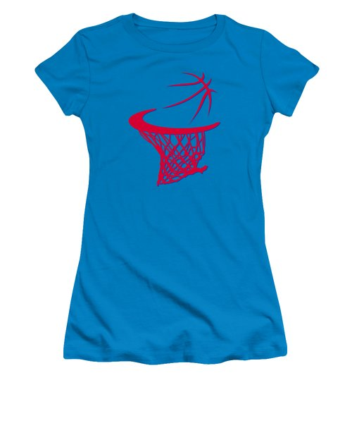 Clippers Basketball Hoop Women's T-Shirt (Junior Cut) by Joe Hamilton