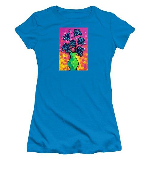 Colorful Flower Bouquet By Sharon Cummings Women's T-Shirt (Junior Cut) by Sharon Cummings
