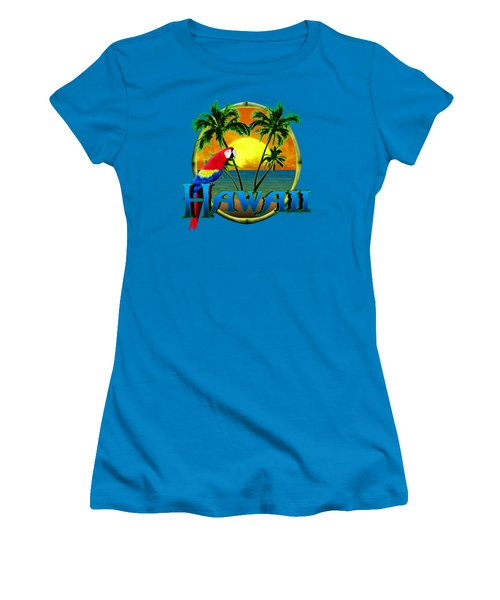 Hawaii Parrot Women's T-Shirt (Junior Cut) by Chris MacDonald
