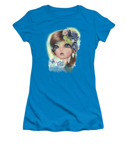 Indigo - Butterfly Keeper - Munchkinz By Sheena Pike  Women's T-Shirt (Junior Cut) by Sheena Pike