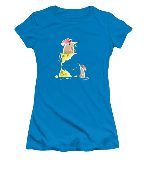 Living Dangerously  Women's T-Shirt (Junior Cut) by Andrew Hitchen