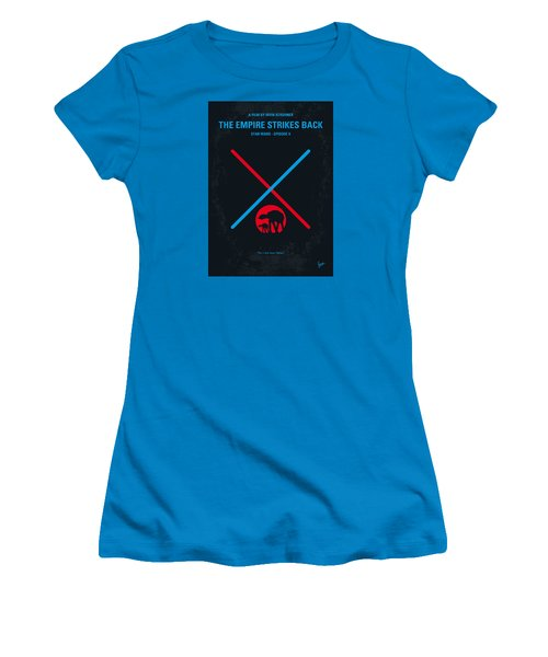 No155 My Star Wars Episode V The Empire Strikes Back Minimal Movie Poster Women's T-Shirt (Junior Cut) by Chungkong Art