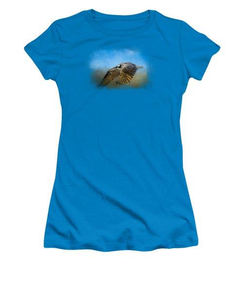 Osprey Over Pickwick Women's T-Shirt (Junior Cut) by Jai Johnson