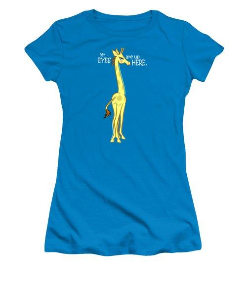 Sassy Giraffe - Plain Women's T-Shirt (Junior Cut) by J L Meadows