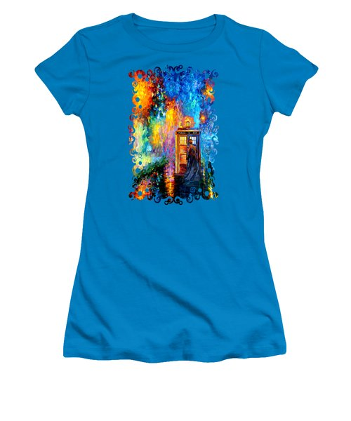 The Doctor Lost In Strange Town Women's T-Shirt (Junior Cut) by Three Second
