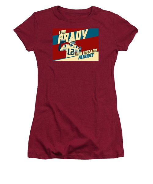 Tom Brady Women's T-Shirt (Junior Cut) by Taylan Apukovska
