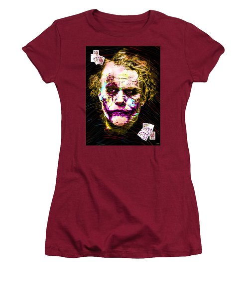 Clown With Zero Empathy Women's T-Shirt (Junior Cut) by Daniel Janda