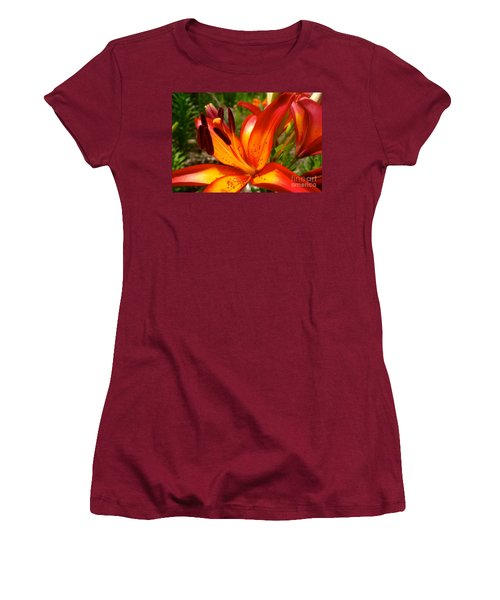 Royal Sunset Lily Women's T-Shirt (Junior Cut) by Jacqueline Athmann
