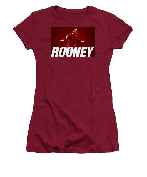 Wayne Rooney Women's T-Shirt (Junior Cut) by Semih Yurdabak