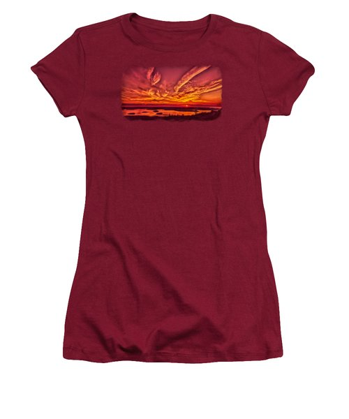 A New Maine Day Women's T-Shirt (Junior Cut) by John M Bailey