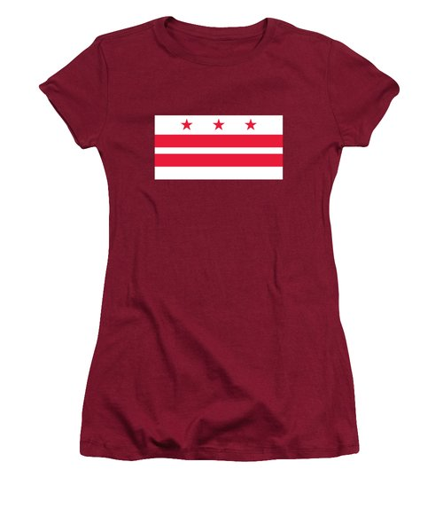 District Of Columbia Women's T-Shirt (Junior Cut) by Frederick Holiday