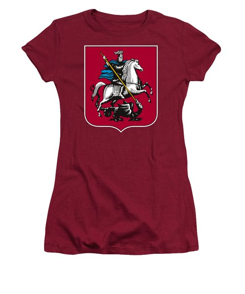 Moscow Coat Of Arms Women's T-Shirt (Junior Cut) by Frederick Holiday
