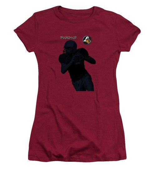 Purdue Football Women's T-Shirt (Junior Cut) by David Dehner
