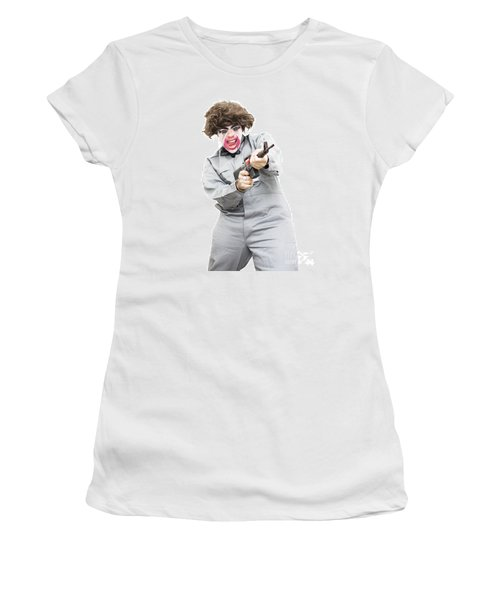 Female Psycho Killer Women's T-Shirt (Junior Cut) by Jorgo Photography - Wall Art Gallery