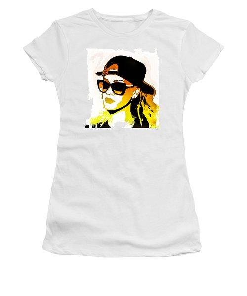 Rihanna Women's T-Shirt (Junior Cut) by Svelby Art