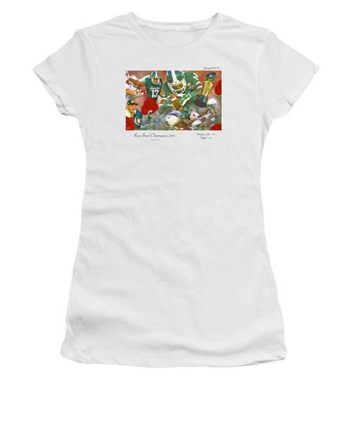 A Very Sweet Rose Women's T-Shirt (Junior Cut) by John Farr